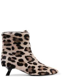 Botines de leopardo marrón claro de Tom Ford
