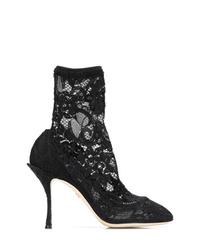 Botines de malla negros de Dolce & Gabbana
