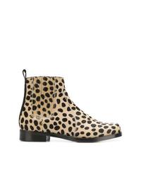 Botines de pelo de becerro de leopardo marrón claro de Joseph