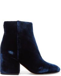 615e9b3b Comprar unos botines de terciopelo azul marino: elegir botines de ...