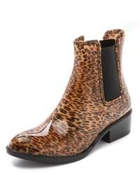 Bottes de pluie imprimées léopard brunes Jeffrey Campbell