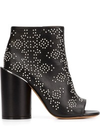 Bottines en cuir à clous noires Givenchy