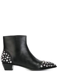 Bottines en cuir à clous noires Marc by Marc Jacobs