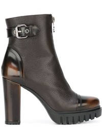 Bottines en cuir brunes Loriblu