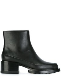 Bottines en cuir noires DKNY