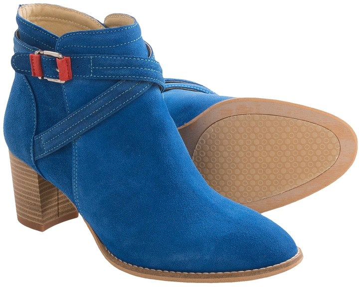 bottines bleues