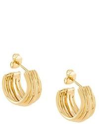 Boucles d'oreilles dorées Aurelie Bidermann