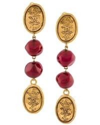 Boucles d'oreilles dorées Chanel