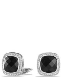 Boucles d'oreilles noires David Yurman