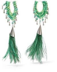 Boucles d'oreilles vertes menthe Rosantica