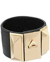 Bracelet en cuir noir et doré Sam Edelman