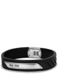 Bracelet en cuir noir David Yurman