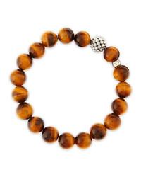 Bracelet orné de perles brun Lagos