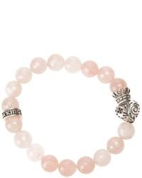 Bracelet orné de perles rose King Baby Studio