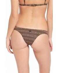 Braguitas de bikini con estampado geométrico negras de Volcom