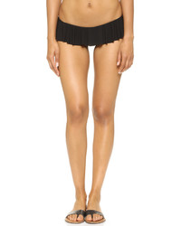 Braguitas de bikini con volante negras de Norma Kamali