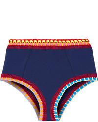 Braguitas de bikini de crochet azul marino de Kiini