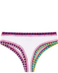Braguitas de bikini de crochet blancas de Kiini