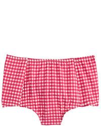 Braguitas de bikini de cuadro vichy rosa de J.Crew