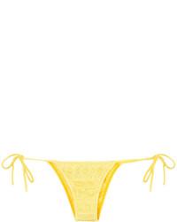 Braguitas de bikini de punto amarillas de Cecilia Prado