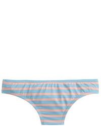 Braguitas de bikini de rayas horizontales celestes de J.Crew