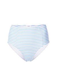 Braguitas de bikini de rayas horizontales celestes de Onia