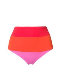 Braguitas de bikini de rayas horizontales en multicolor de Mara Hoffman