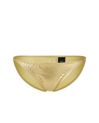 Braguitas de bikini doradas de Norma Kamali