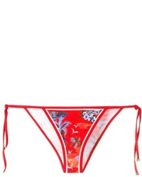 Braguitas de bikini estampadas rojas de Dsquared2