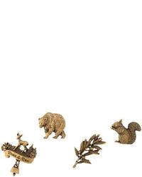 Broche de leopardo dorado de Dsquared2