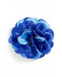 Broche de solapa azul