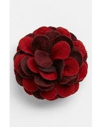 Broche de solapa con print de flores rojo de hook + ALBERT
