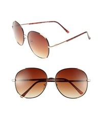 A.J. Morgan Marnie Sunglasses Brown Gold One Size