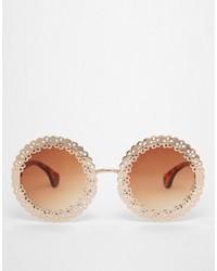 Asos Collection Filigree Round Sunglasses