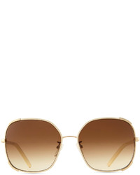 2191cee08ba ... Chloé Chloe Nerine Oversized Sunglasses With Leather Goldcream