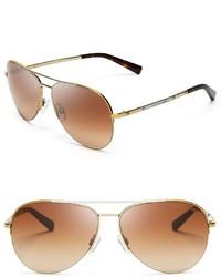 Michael Kors Michl Kors Gramercy Semi Rimless Aviator Sunglasses 59mm