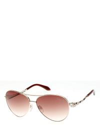 Roberto Cavalli Muphrid Snake Temple Aviator Sunglasses Rose Goldenbrown