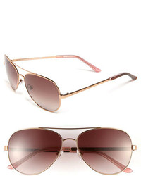 New york avaline 58mm aviator sunglasses rose gold brown gradient medium 209437