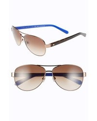 Kate Spade New York Dalia2 58mm Aviator Sunglasses