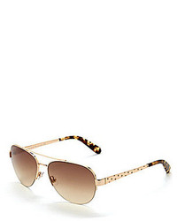 Kate Spade New York Marion Semi Rimless Aviator Sunglasses
