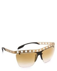 Prada Perforated Frame Sunglasses