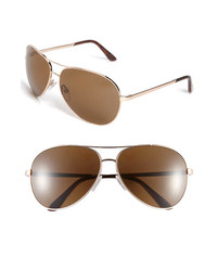 Tom Ford Charles 62mm Polarized Sunglasses Rose Gold Brown Polarized One Size