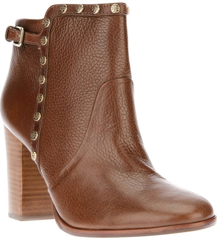 bcb9ed2eb5dd ... Brown Ankle Boots Tory Burch Studded Ankle Boot