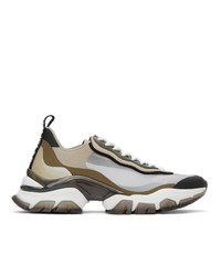 Moncler Beige And Khaki Leave No Trace Light Sneakers