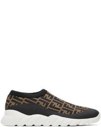Fendi Brown Black Forever Low Top Sneakers