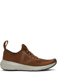 Rick Owens Brown Veja Edition Runner Style 2 V Sneakers