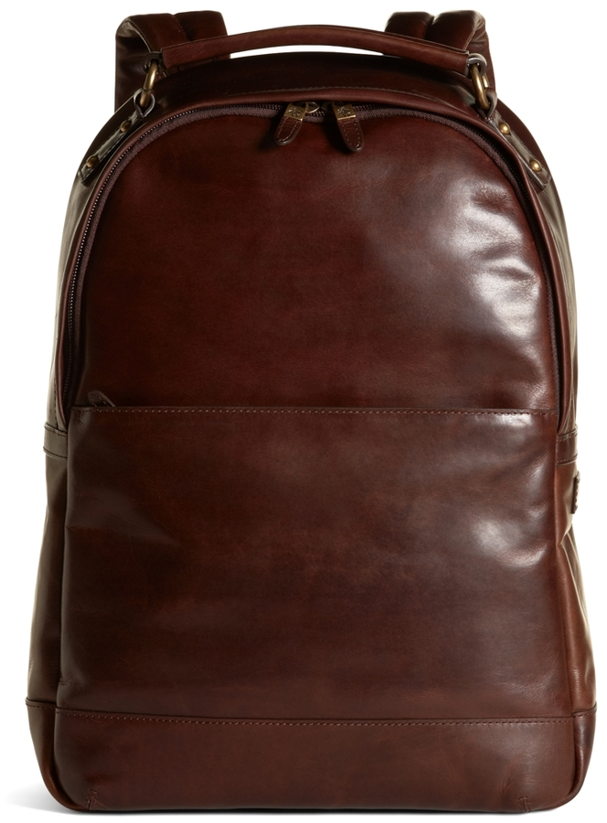 Brooks Brothers Distressed Leather Backpack | Where to buy & how ...