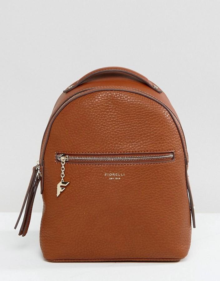 ... Fiorelli Mini Anouk Tan Tumbled Backpack ...