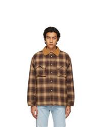 Rhude Beige Sherpa Snap Collar Jacket