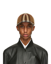 Burberry Brown Wool Check Baseball Cap